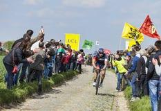 Roger Kluge- Paris Roubaix 2014 Royaltyfri Bild
