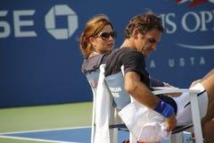 Roger och Mirka Federer Royaltyfri Bild