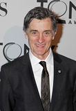 Roger Rees. Welsh-born actor Roger Rees sports his lapel pin signifying his nomination for Director for Peter and the Starcatcher, at the Meet the Nominees press Stock Photos
