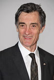 Roger Rees. Welsh-born actor Roger Rees sports his lapel pin signifying his nomination for Director for Peter and the Starcatcher, at the Meet the Nominees press Stock Image