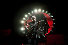 Roger Waters concert. British musician Roger Waters performing The  Wall live at Olimpiyski stadium, Moscow during The Wall World Tour Stock Photos