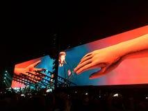 Roger Waters en concierto en Circo Máximo, Roma Imagen de archivo libre de regalías