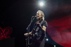 Roger Waters. Of Pink Floyd while touring in 2013, during The Wall Live show Royalty Free Stock Photos