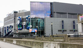 Rogers Arena i stadens centrum Vancouver, British Columbia Royaltyfri Foto