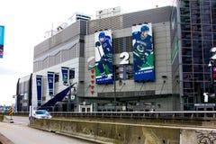 Rogers Arena i stadens centrum Vancouver, British Columbia Arkivfoton