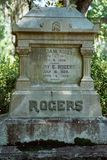 Rogers Cemetery Statuary Statue Bonaventure kyrkogård Savannah Georgia fotografering för bildbyråer