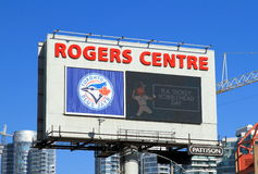 Rogers Centre Billboard Image libre de droits