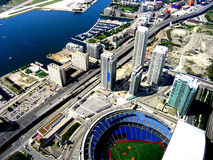 Rogers Centre, Toronto, Ontario, Canada. Aerial view of Rogers center stadium Stock Photography