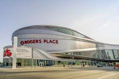 Rogers Place em Alberta, Canadá imagens de stock