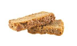 rogge gezouten crackers die op wit worden geïsoleerd Stock Fotografie