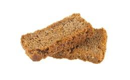 rogge gezouten crackers die op wit worden geïsoleerd Stock Afbeelding