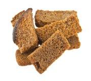 rogge gezouten crackers die op wit worden geïsoleerd Royalty-vrije Stock Fotografie