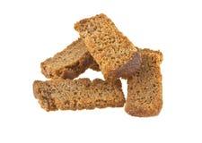 rogge gezouten crackers die op wit worden geïsoleerd Royalty-vrije Stock Foto