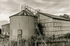Rogge-silo Tank royalty-vrije stock afbeelding