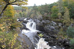 Rogie Falls / Waterfall. Rogie falls is a waterfall on the Black River. Spectacular river with amazing autumn colors and backdrop Royalty Free Stock Photography