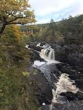 Rogie Falls / Waterfall. Rogie falls is a waterfall on the Black River. Spectacular river with amazing autumn colors and backdrop Royalty Free Stock Photo