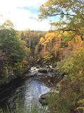 Rogie Falls / Waterfall. Rogie falls is a waterfall on the Black River. Spectacular river with amazing autumn colors and backdrop Stock Images