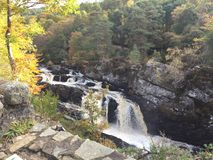 Rogie Falls / Waterfall. Rogie falls is a waterfall on the Black River. Spectacular river with amazing autumn colors and backdrop Stock Photography