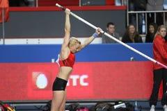 Rogowska安娜-波兰撑竿跳选手 免版税库存图片