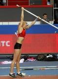 Rogowska Anna - polerad polvaulter Arkivbild