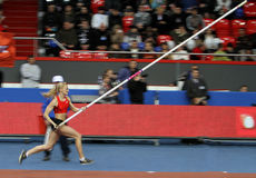 Rogowska Anna - Poolse pool vaulter Stock Afbeeldingen
