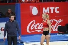Rogowska Anna - sauteur de pôle polonais Photographie stock libre de droits