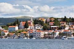 Rogoznica, взгляд Хорватии от моря Стоковая Фотография RF