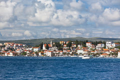 Rogoznica, Croatia view from the sea Royalty Free Stock Images