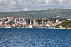 Rogoznica, Croatia view from the sea Royalty Free Stock Photography