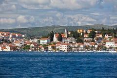 Rogoznica, Croatia view from the sea Royalty Free Stock Image