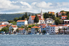 Rogoznica, Croatia view from the sea Royalty Free Stock Photos