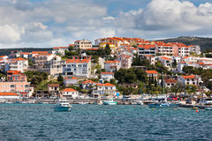 Rogoznica, Croatia view from the sea Royalty Free Stock Photography