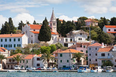 Rogoznica, Croatia view from the sea Stock Photo