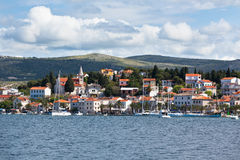 Rogoznica, Croatia view from the sea Stock Photos