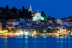 Rogoznica by night Stock Image