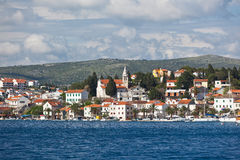 Rogoznica, opinión de Croacia Fotos de archivo
