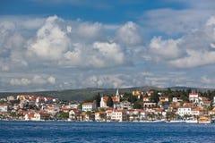 Rogoznica, opinión de Croacia del mar fotos de archivo libres de regalías