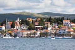 Rogoznica, opinión de Croacia del mar foto de archivo