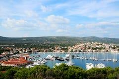 Rogoznica - small Croatian town. Popular tourist destination on the Dalmatian coast in Croatia Royalty Free Stock Photography