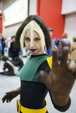 Rogue cosplayed. Royalty Free Stock Image