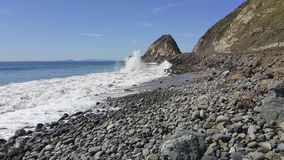 Rogue waves at Point Mugu, Ventura, CA Stock Photography
