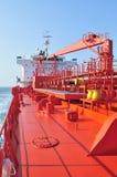 Rohöl-Trägerlieferung des Tankers Stockfotos