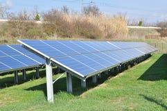 Roh von den Sonnenkollektoren Lizenzfreie Stockbilder