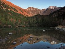 Rohace Lake - West High Tatras Stock Image