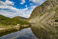 Rohace mountain lake. Slovakia. Summer mountain landscape. Rohace mountain lake. Slovakia, Tatry National park. Beautiful slovak nature. Tourism destination stock photo