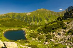 Rohace Mountains in Slovakia. Short, but beuatiful Rohace Mountains belongs to West Tatra, the highest range of Slovakia. Average hight of Rohace Mountains is stock images