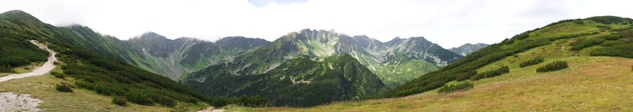 Rohace western Tatra mountains, Slovakia. Panorama view of Rohace in western Tatra mountains, Slovakia royalty free stock photo