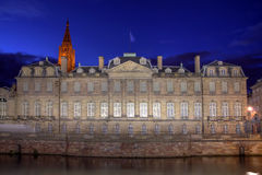 Rohan宫殿,史特拉斯堡,法国 免版税图库摄影