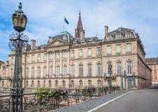 Rohan Palace i Strasbourg alsace france Arkivfoto