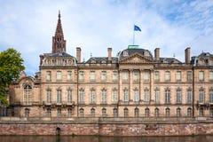 Rohan Palace in Straatsburg in Bas Rhin alsace Royalty-vrije Stock Fotografie